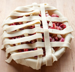 applesauce apple pie lattice top pic